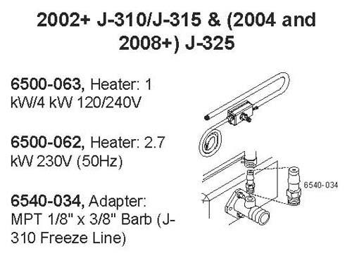 Hot Tub Parts - Sundance Spas Jacuzzi Heater 4KW/1KW (P/N: 6500-063) SHIPS IN 6 TO 8 WEEKS