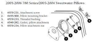 Hot Tub Parts - Sundance Spas Pillow Mounting Bracket (P/N: 6455-500) SHIPS IN 6 TO 8 WEEKS