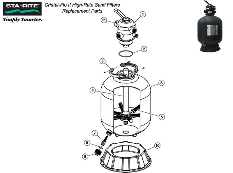 Pool Parts - Cristal Flo II Sight Glass (P/N: 272550)