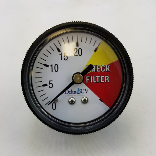 Delta UV Sanitizer Pressure Gauge (P/N: 84-82234) - Aqua-Tech