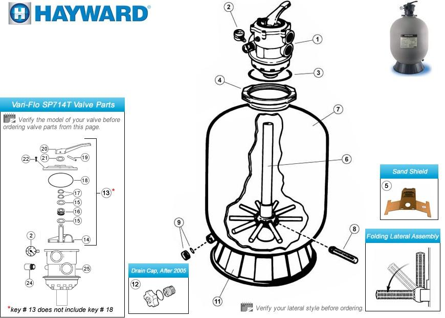 Pool Parts - Hayward Sand Filter Threaded Sight Glass (P/N: SPX0710MA)