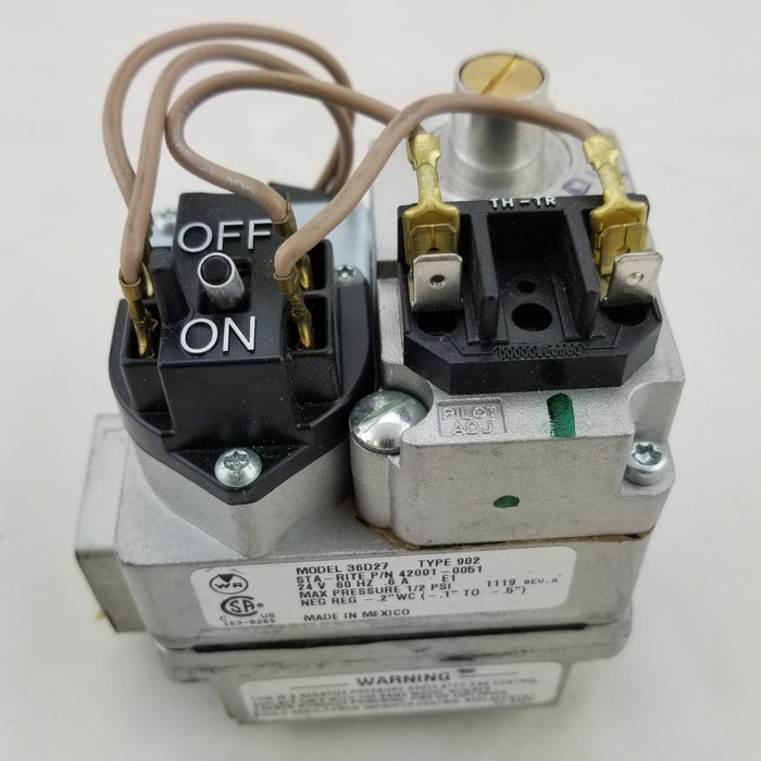 Pentair/Sta-Rite Maxetherm Gas Valve (P/N: 42001-0051S) - Aqua-Tech