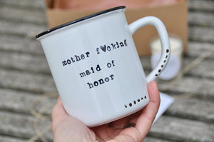 maid of honor mug personalized funny bridesmaid gift