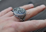 Vintage poison ring pill box ring hidden message ring