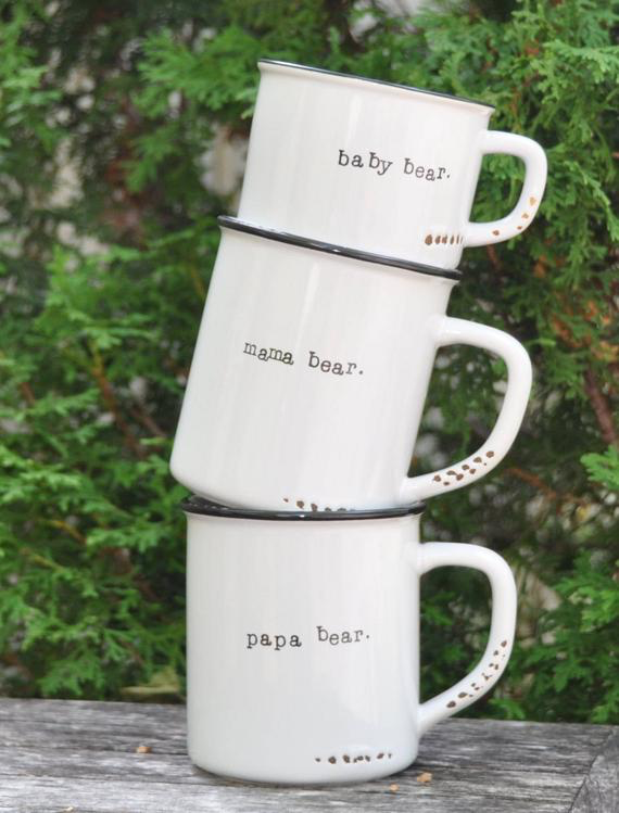 Unique baby shower gift for mom to be: New Mom Mug set