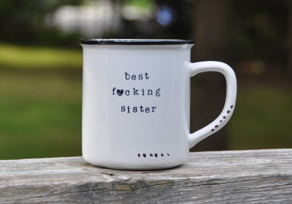 Best Sister Mug Birthday Present For Sister Lace And Twig Inc