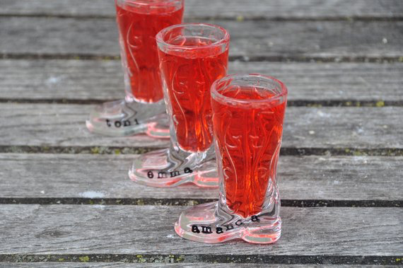 nashville bachelorette party shot glasses