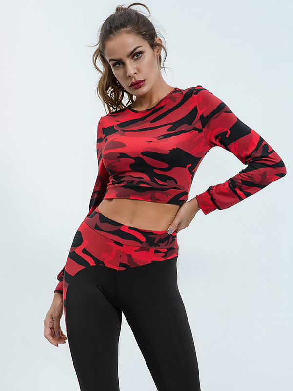 Camo Sport Tee And Leggings Suits