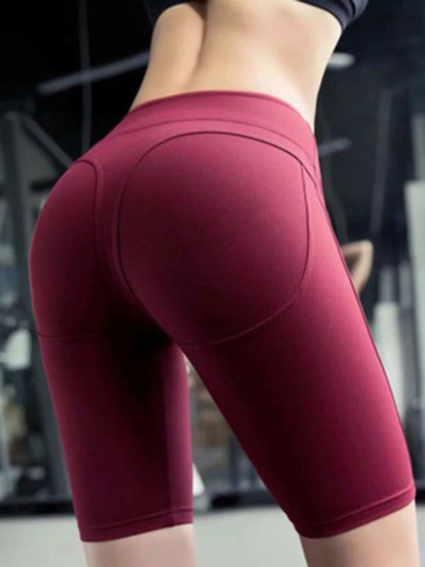 Solid Empire Leggings Yoga Shorts Bottoms