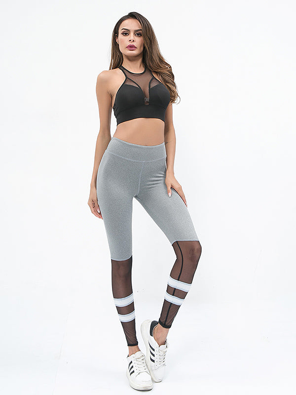 Fishnet Insert Yoga Leggings