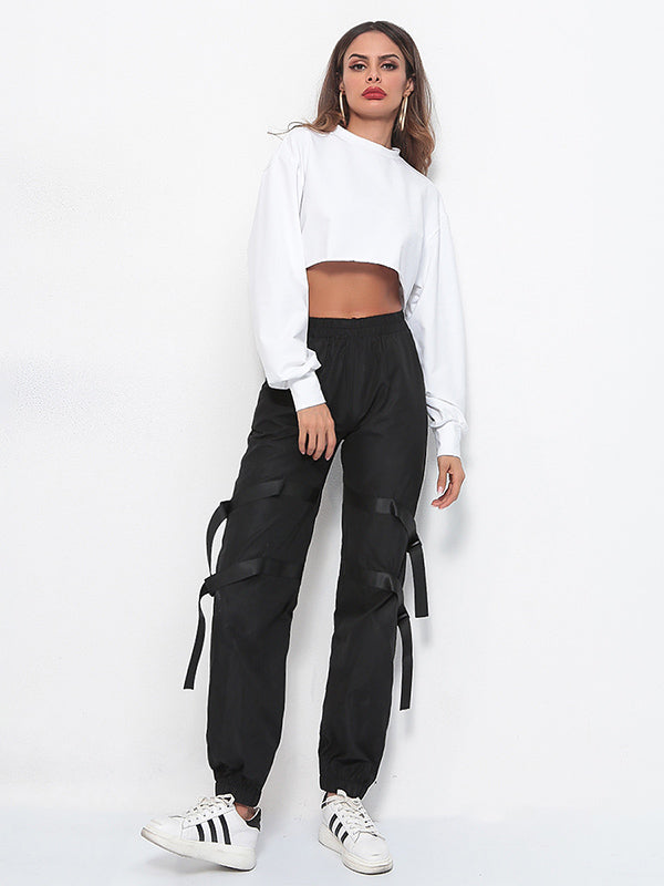 Split-joint Bandage Leisure Cool Pants