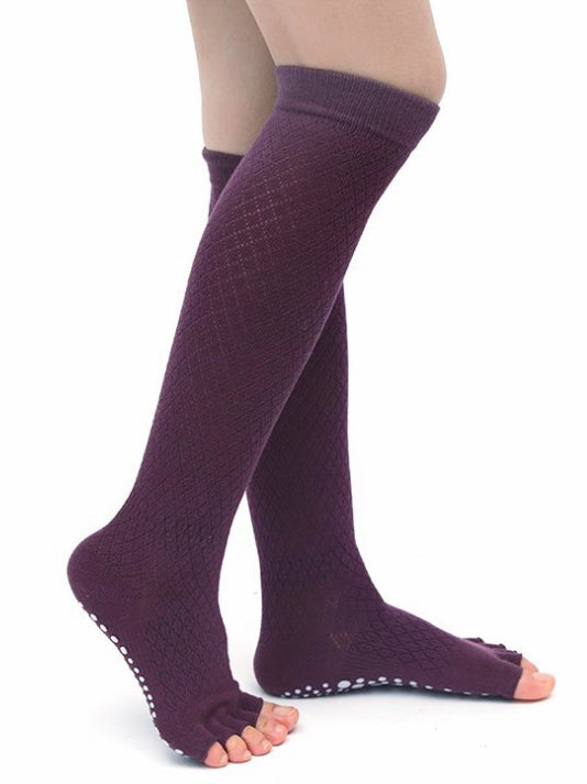 Knee-high Five-toed Yoga Stockings