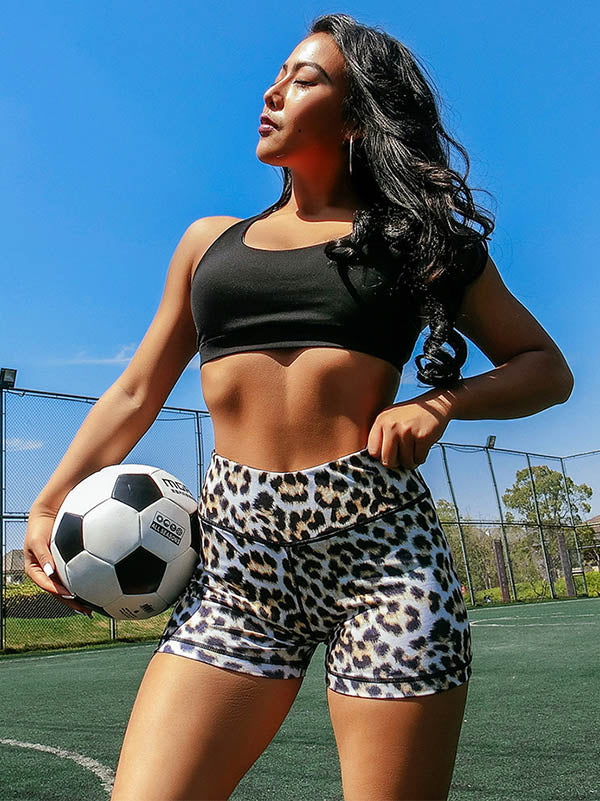High Waist Leopard Printed Wrap Shorts