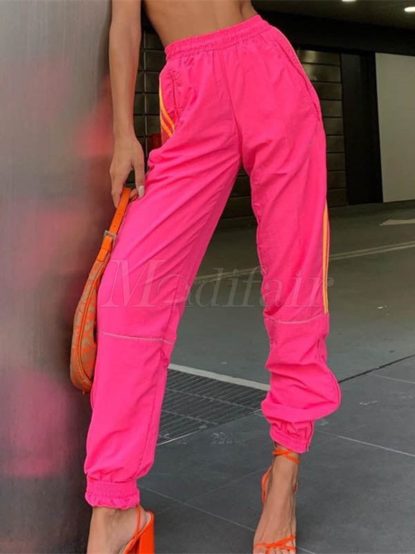 Loose Pink Athletic Pants