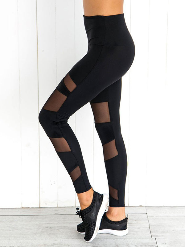 Hollow Solid Sports Yoga Leggings