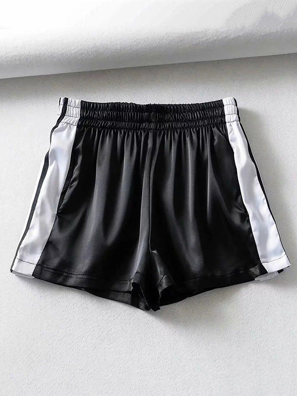 Contrast Trim Button Sport Shorts