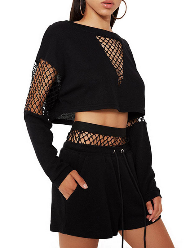 Two-piece Mesh Stitching Yoga&Gym Suits