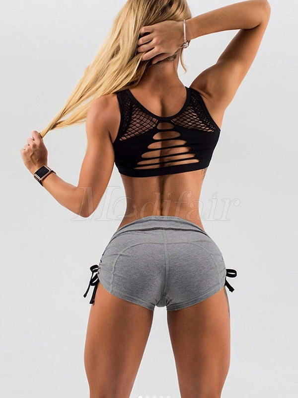 Lift Hip Solid Bandage Fitness Sports Shorts