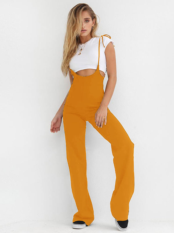 Sexy Slim High Waist Strappy Jumpsuits Bottoms