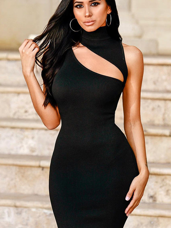 Sleeveless Hollow Mini Dress