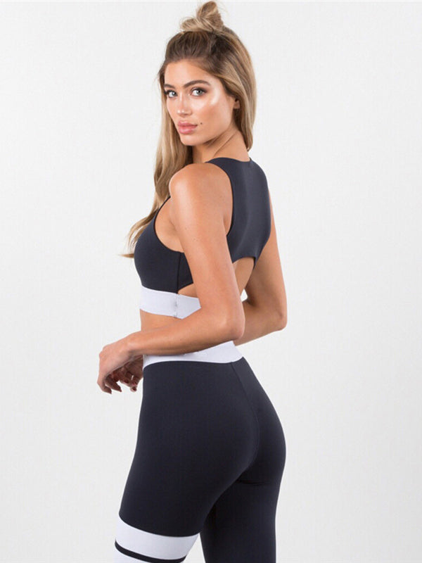 Cut Out Yoga Gym Bra And Leggings Suits