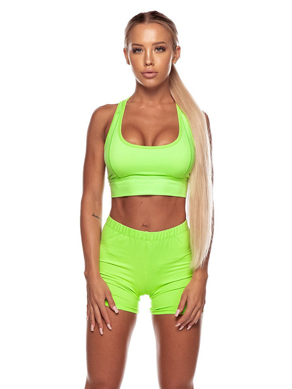 Iridescent Solid Sports Yoga Suits