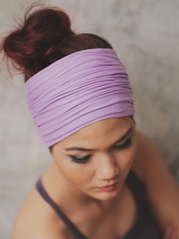 Solid Wide Sports Headband Accessories