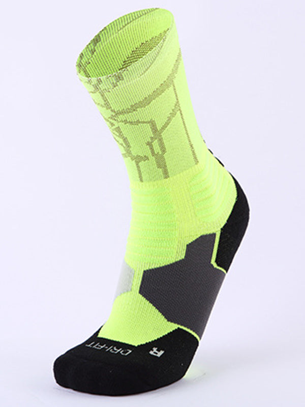 Color Block Athletic Socks