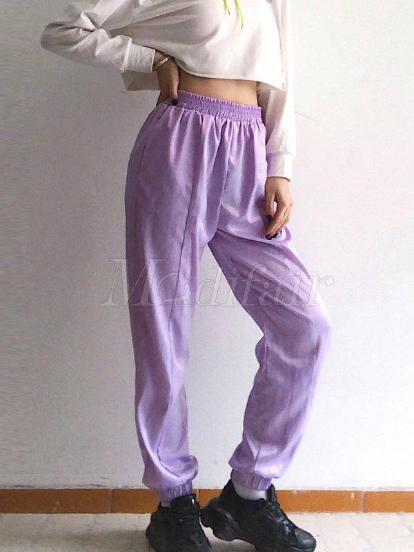 Fashion Purple Athletic Pants