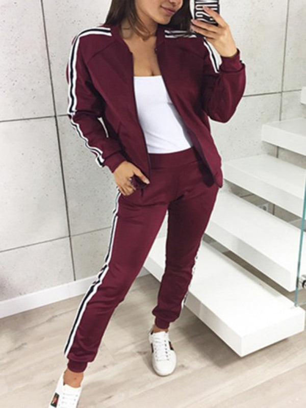 Casual Strap Long Sleeves Yoga&Gym Suits