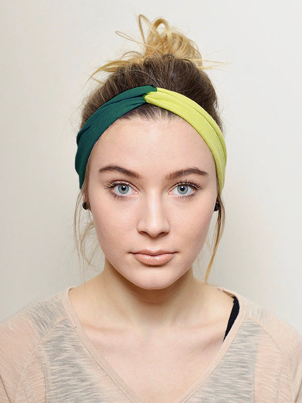 Two Tone Elastic Headband Accessories