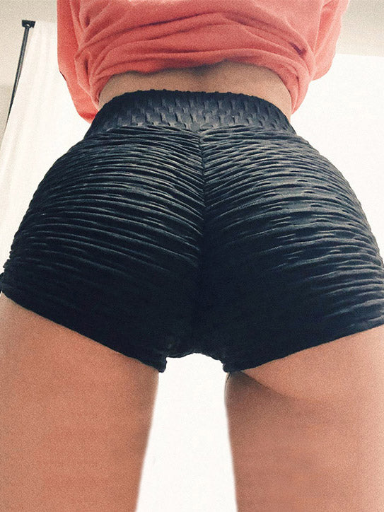 Sports Drawstring Solid Shorts