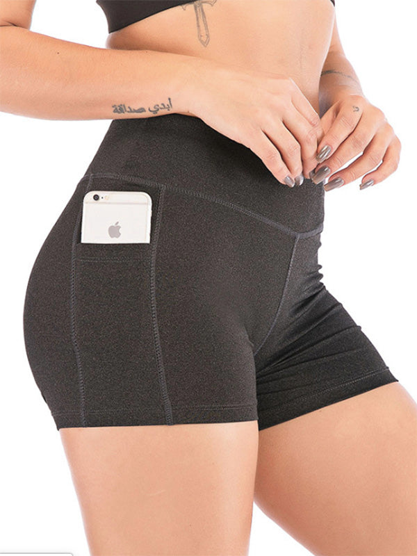 Sports Elastic  Lift The Hips Shorts
