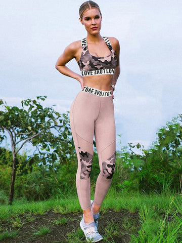 Two Tone Cross Strappy Racerback Gym Jumpsuits