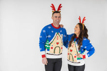 Load image into Gallery viewer, matching couples light up christmas jumpers