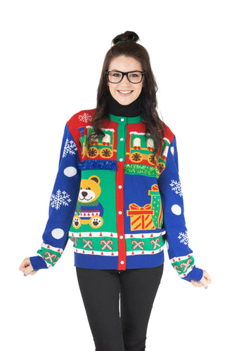 ladies christmas cardigan