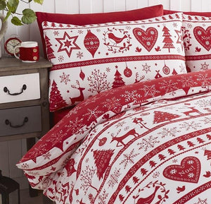 Classic Nordic Christmas Duvet Cover
