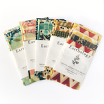 5 Wrap Variety Pack • Beeswax Wraps