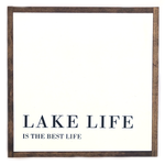 Lake Life • Wood Sign