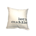 Let's Cuddle • Throw Pillow