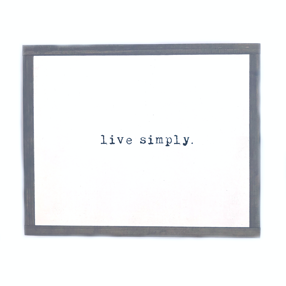 Live Simply • Mini Wood Sign