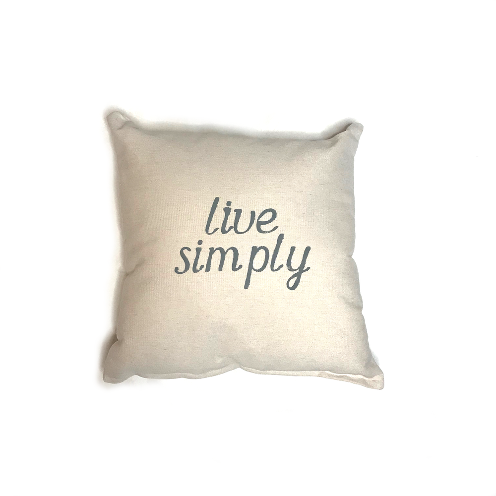 Live Simply • Throw Pillow