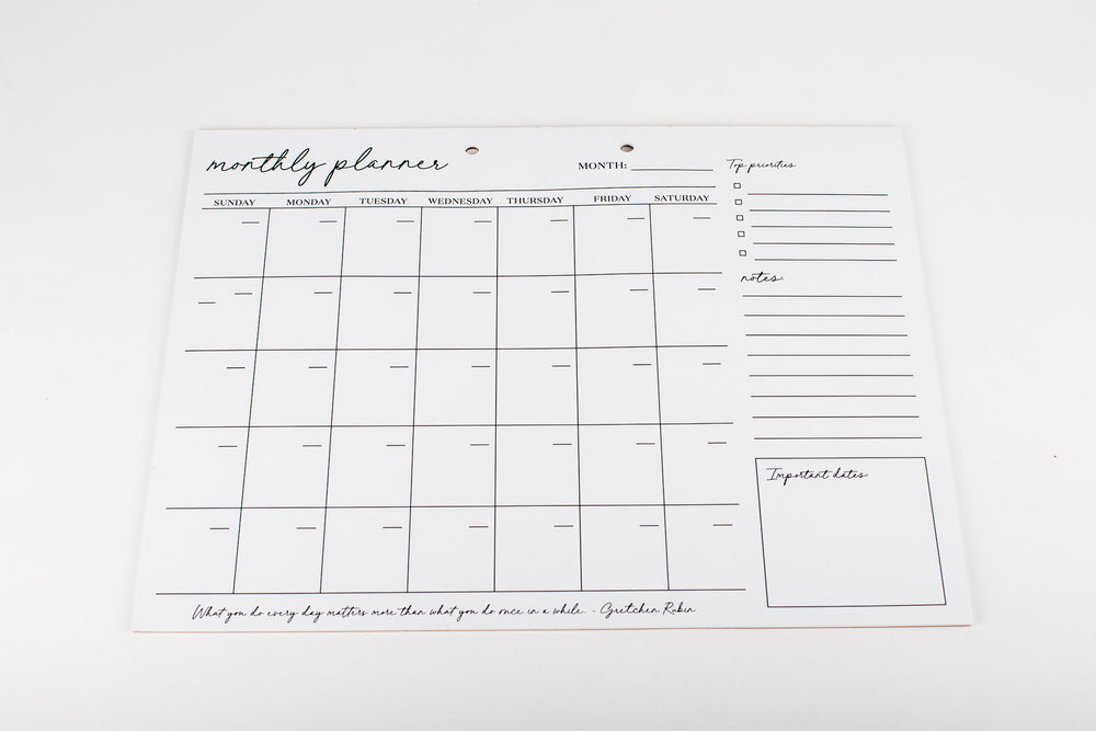 Start Your Own Date • Monthly Planner