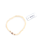 Small Beige/Off-White Bead • Stretch Bracelet