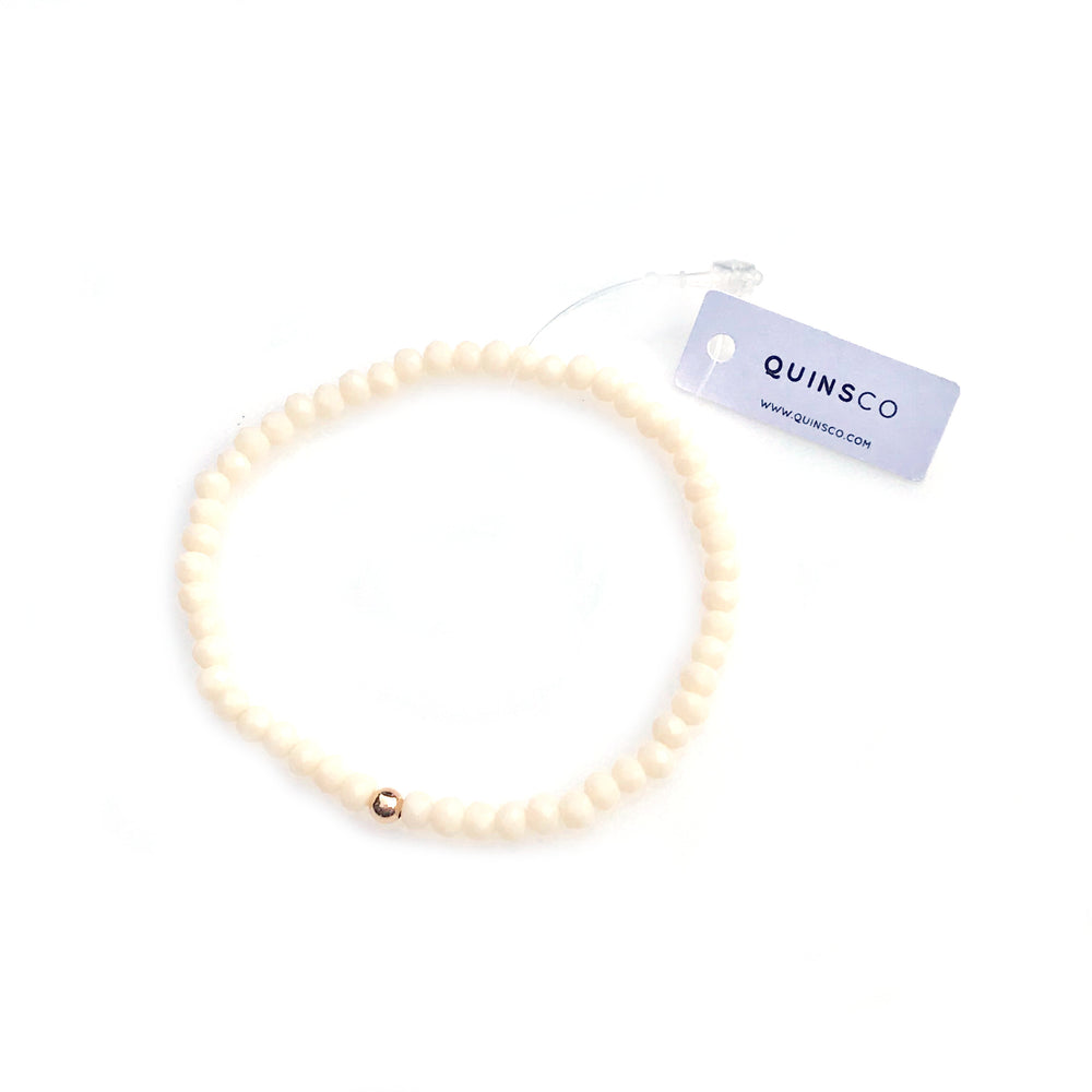 Small Ivory White • Stretch Bracelet