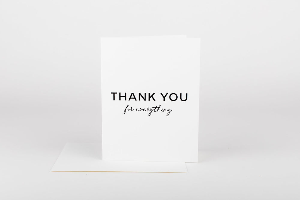 Thank You For Everything • Card