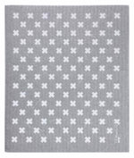 Tiny X ~ Grey & White • Sponge Cloth