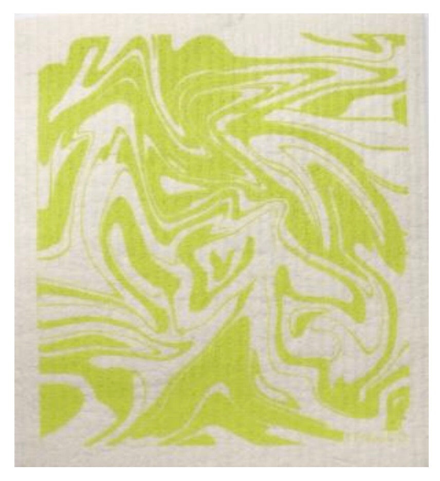Marble ~ Chartreuse • Sponge Cloth