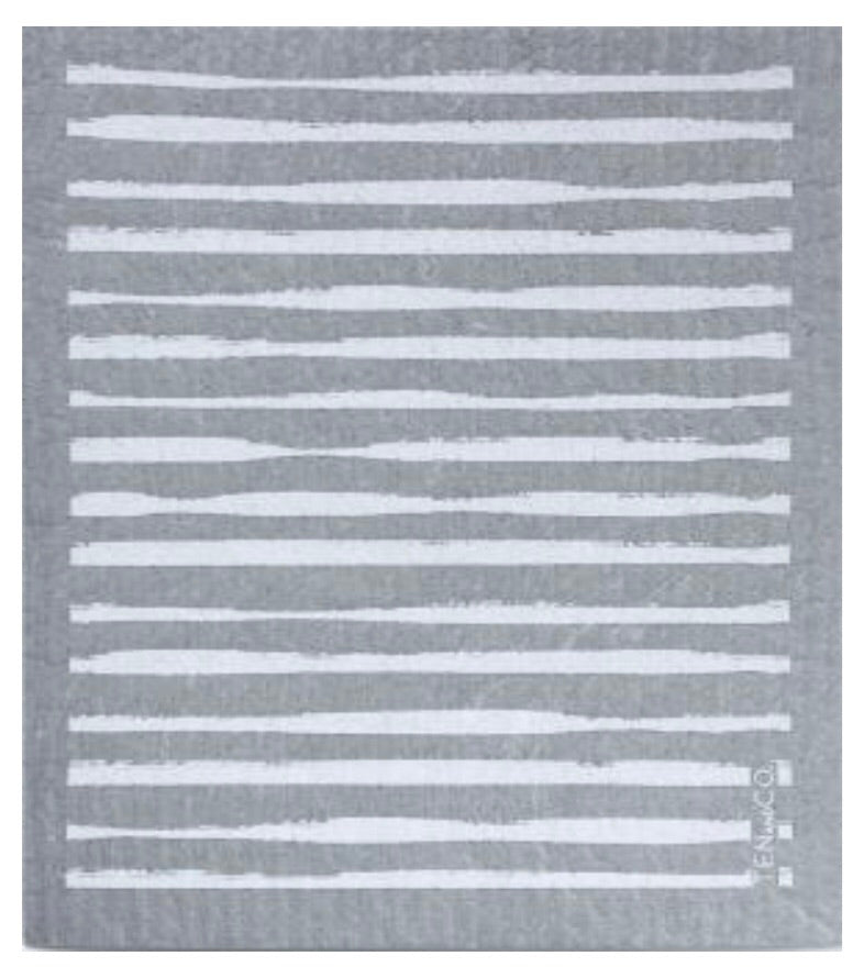 Lines ~ Grey • Sponge Cloth
