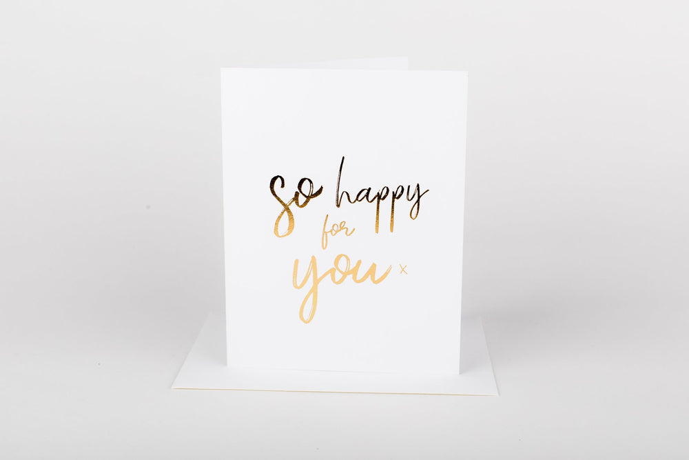 So Happy For You • Card